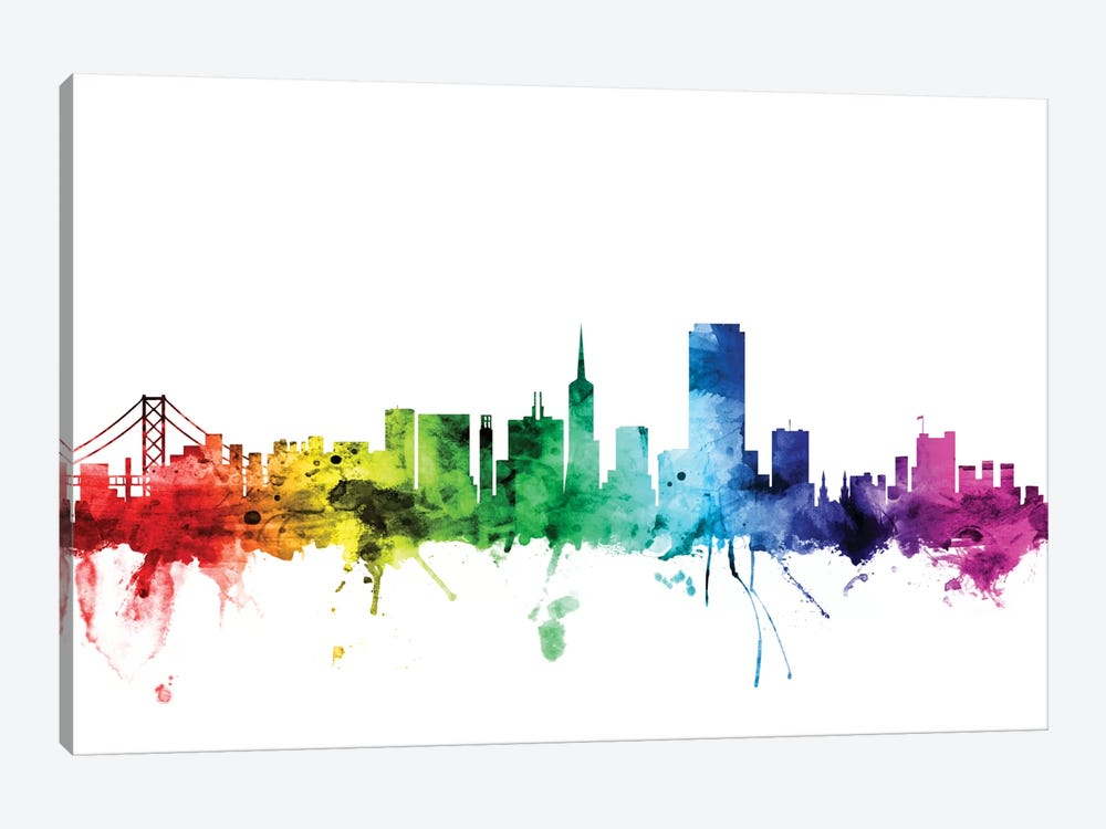 San Francisco, California, USA by Michael Tompsett 1-piece Canvas Print