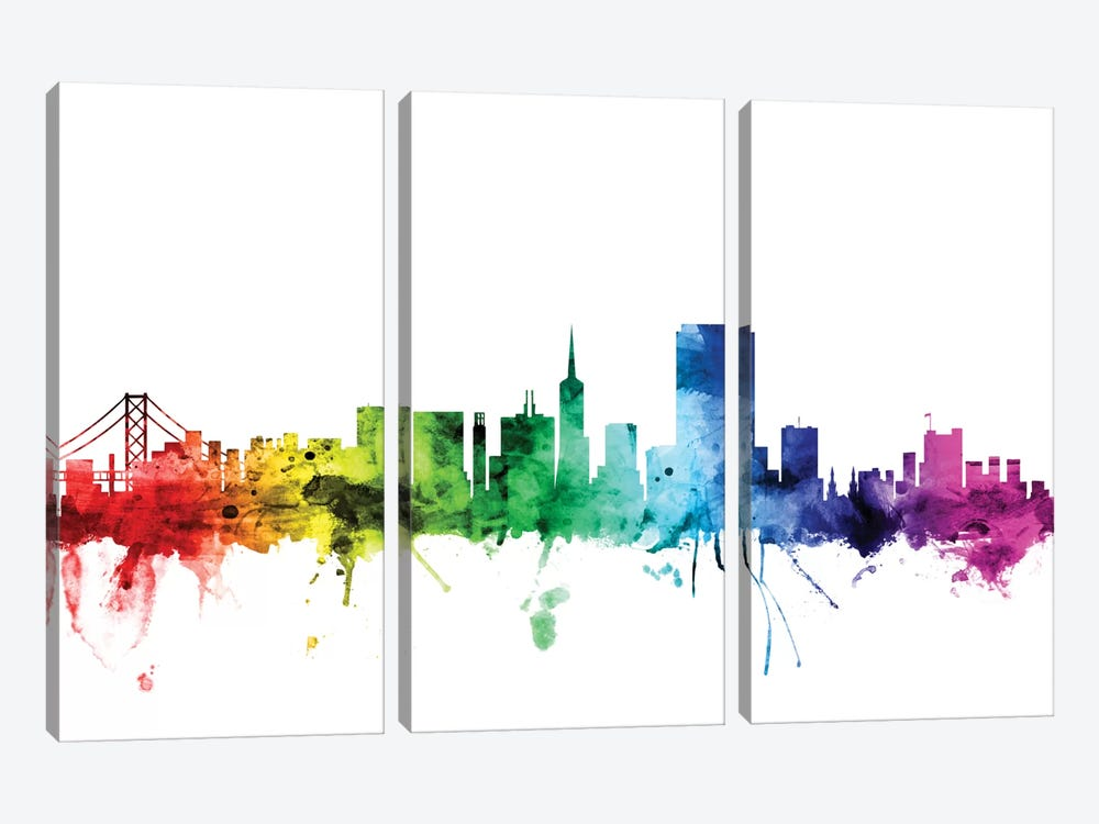 San Francisco, California, USA by Michael Tompsett 3-piece Canvas Print