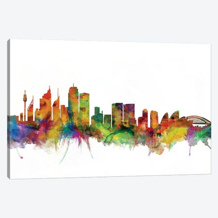 Sydney, Australia Skyline Canvas Print #MTO1174} by Michael Tompsett Canvas Art Print
