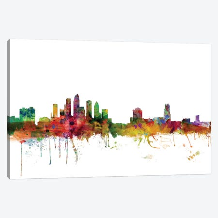 Tampa, Florida Skyline Canvas Print #MTO1176} by Michael Tompsett Canvas Print