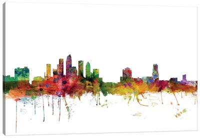 Tampa, Florida Skyline Canvas Art Print