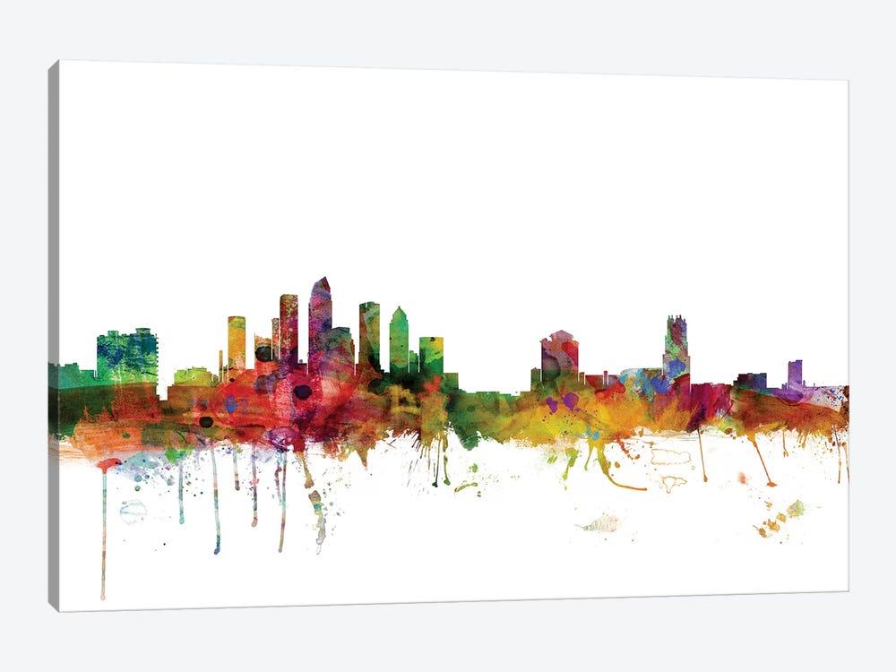Tampa, Florida Skyline by Michael Tompsett 1-piece Canvas Art Print
