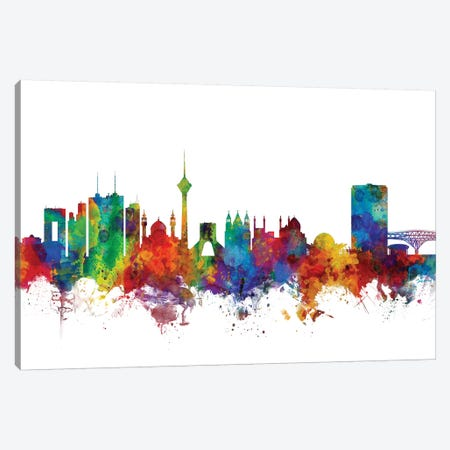 Tehran, Iran Skyline Canvas Print #MTO1177} by Michael Tompsett Canvas Print