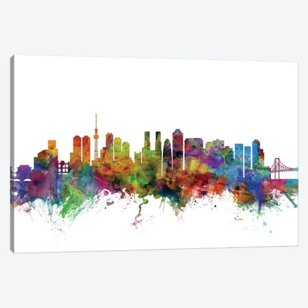 Tokyo, Japan Skyline Canvas Print #MTO1179} by Michael Tompsett Canvas Artwork