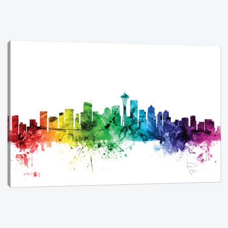 Seattle, Washington, USA Canvas Print #MTO117} by Michael Tompsett Canvas Wall Art
