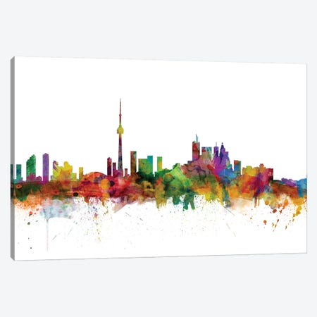 Toronto, Canada Skyline Canvas Print #MTO1181} by Michael Tompsett Canvas Print