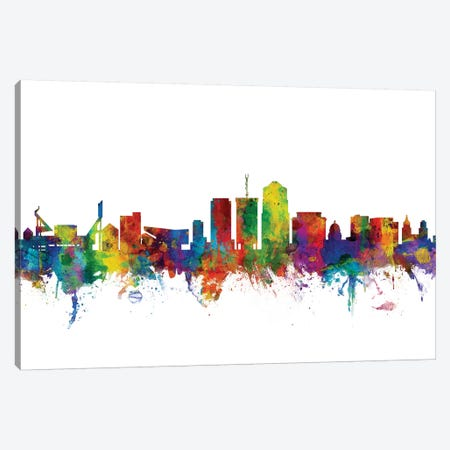 Tucson, Arizona Skyline Canvas Print #MTO1182} by Michael Tompsett Art Print