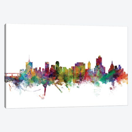 Tulsa, Oklahoma Skyline Canvas Print #MTO1183} by Michael Tompsett Art Print
