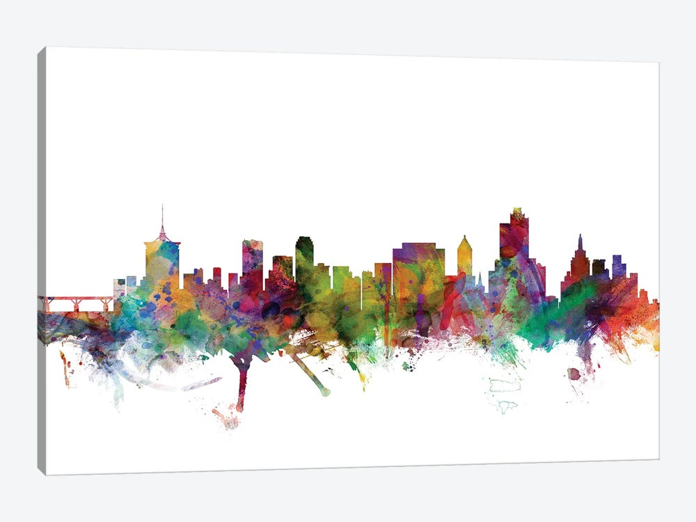 Tulsa, Oklahoma Skyline by Michael Tompsett 1-piece Art Print