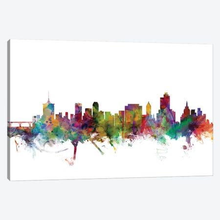 Tulsa, Oklahoma Skyline Canvas Print #MTO1183} by Michael Tompsett Art Print