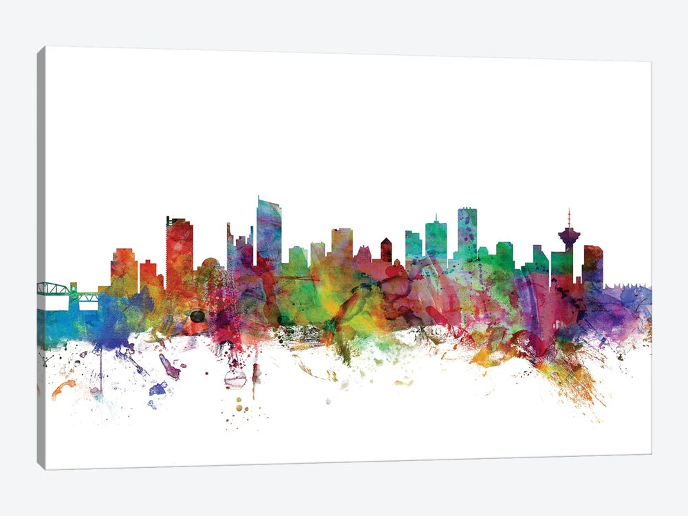 Vancouver, Canada Skyline by Michael Tompsett 1-piece Canvas Art