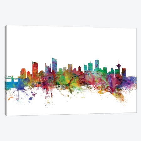 Vancouver, Canada Skyline Canvas Print #MTO1184} by Michael Tompsett Canvas Art