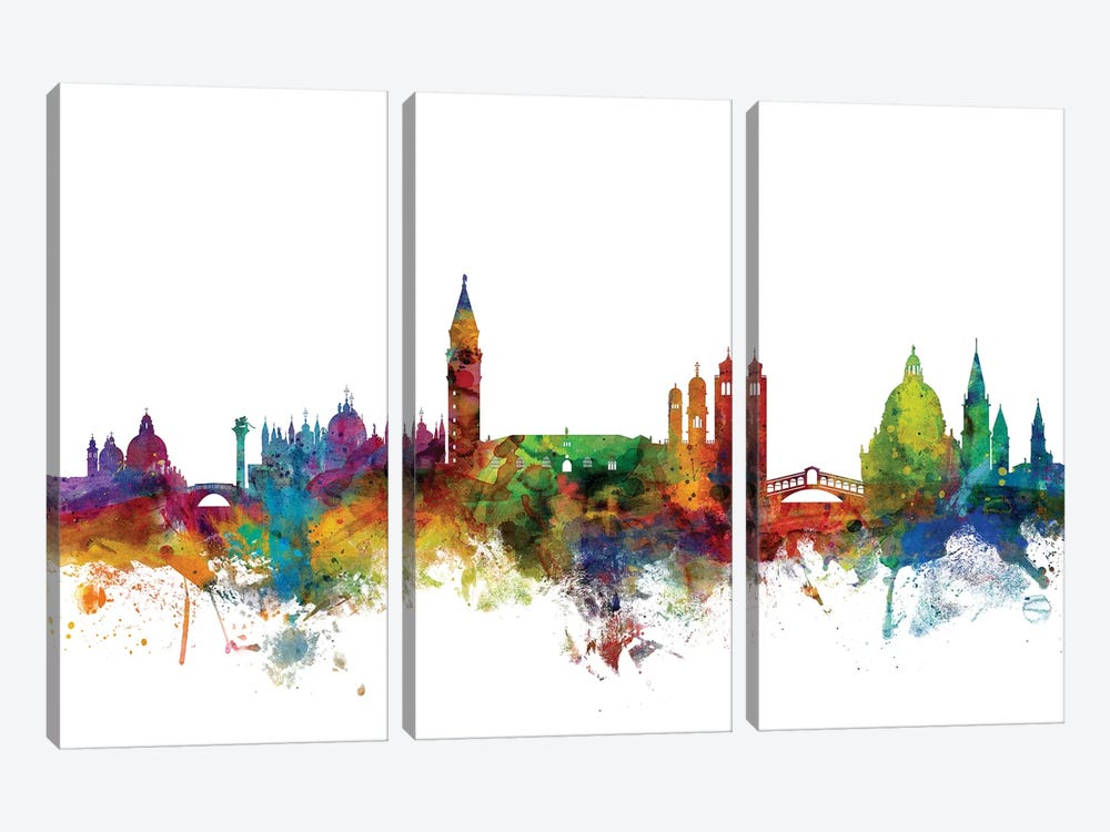 Venice, Italy Skyline by Michael Tompsett 3-piece Canvas Print