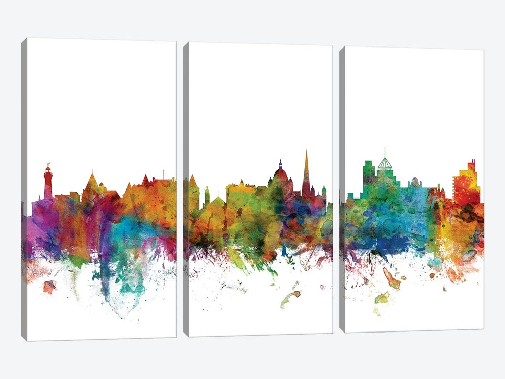 Victoria, Canada Skyline by Michael Tompsett 3-piece Canvas Wall Art