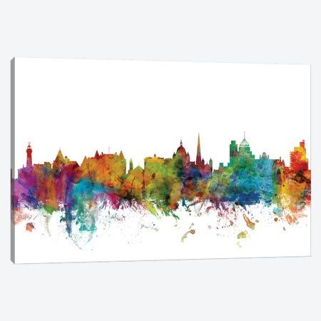 Victoria, Canada Skyline Canvas Print #MTO1186} by Michael Tompsett Canvas Artwork