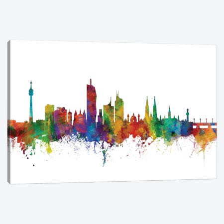 Vienna, Austria Skyline Canvas Print #MTO1187} by Michael Tompsett Canvas Wall Art