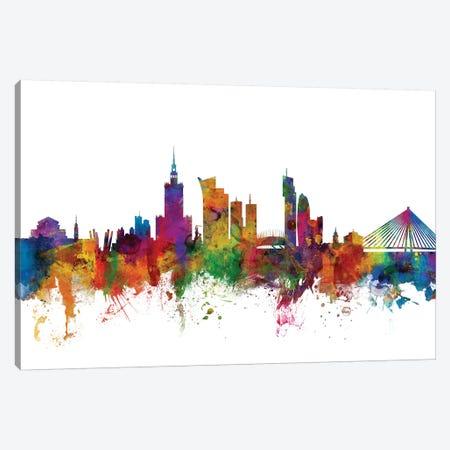 Warsaw, Poland Skyline Canvas Print #MTO1189} by Michael Tompsett Canvas Print