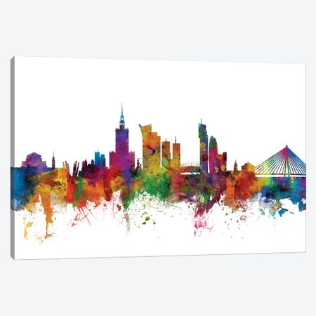 Warsaw, Poland Skyline Canvas Print #MTO1189} by Michael Tompsett Canvas Print
