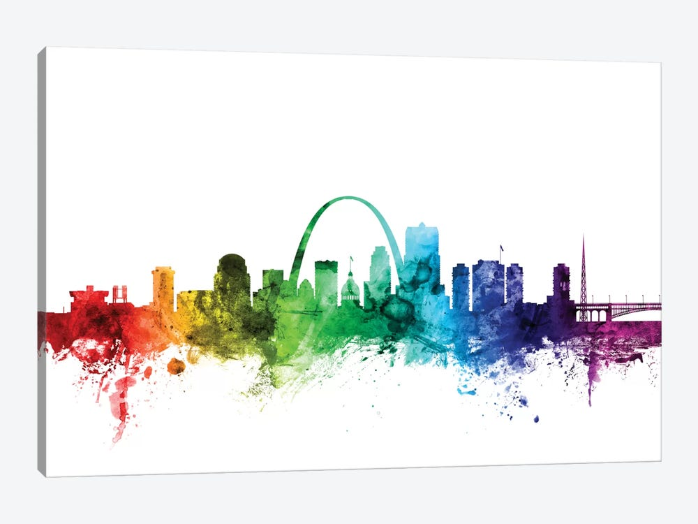 St. Louis, Missouri, USA by Michael Tompsett 1-piece Canvas Print