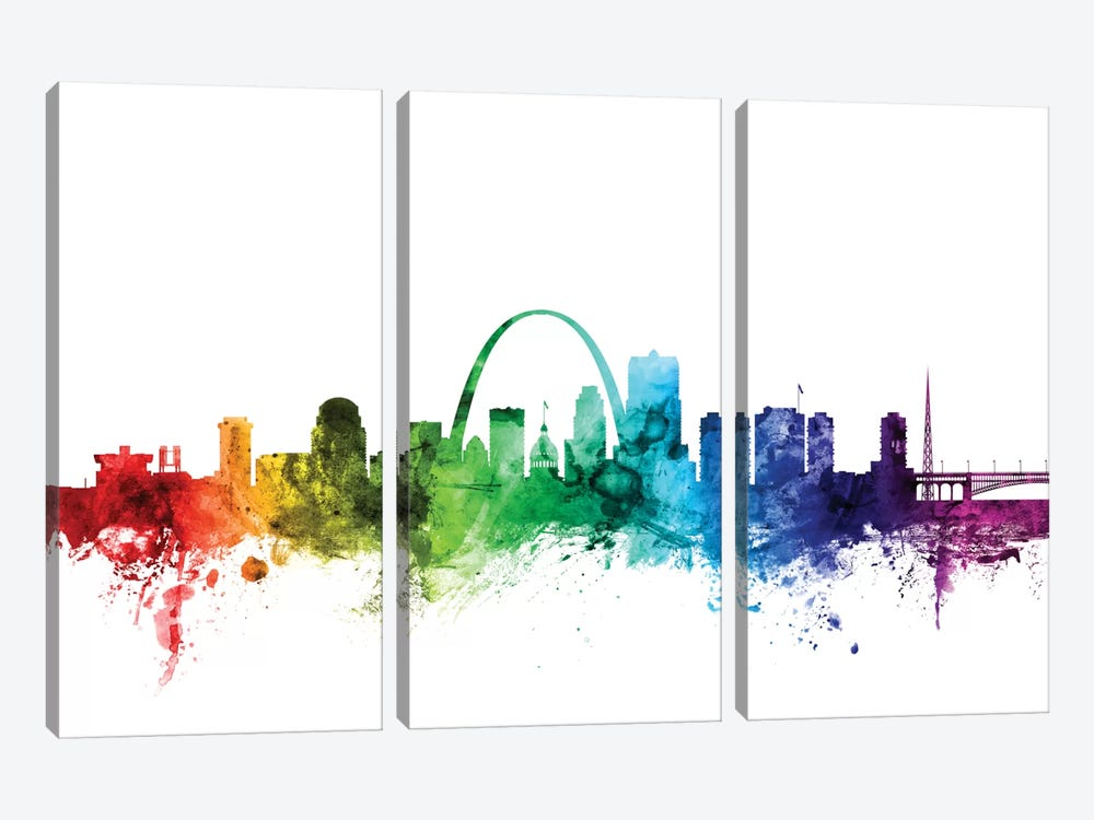 St. Louis, Missouri, USA by Michael Tompsett 3-piece Art Print