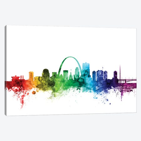 St. Louis, Missouri, USA Canvas Print #MTO118} by Michael Tompsett Art Print