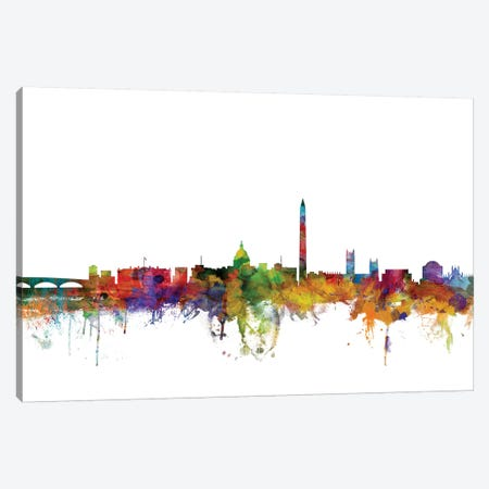 Washington, DC Skyline Canvas Print #MTO1190} by Michael Tompsett Canvas Wall Art
