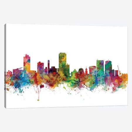 Wellington, New Zealand Skyline Canvas Print #MTO1191} by Michael Tompsett Canvas Artwork