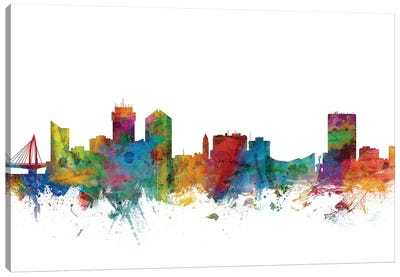 Wichita, Kansas Skyline Canvas Art Print