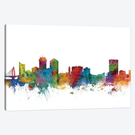 Wichita, Kansas Skyline Canvas Print #MTO1192} by Michael Tompsett Canvas Wall Art