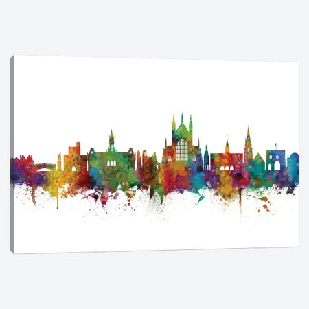 Winchester, England Skyline Canvas Print #MTO1194} by Michael Tompsett Canvas Art Print