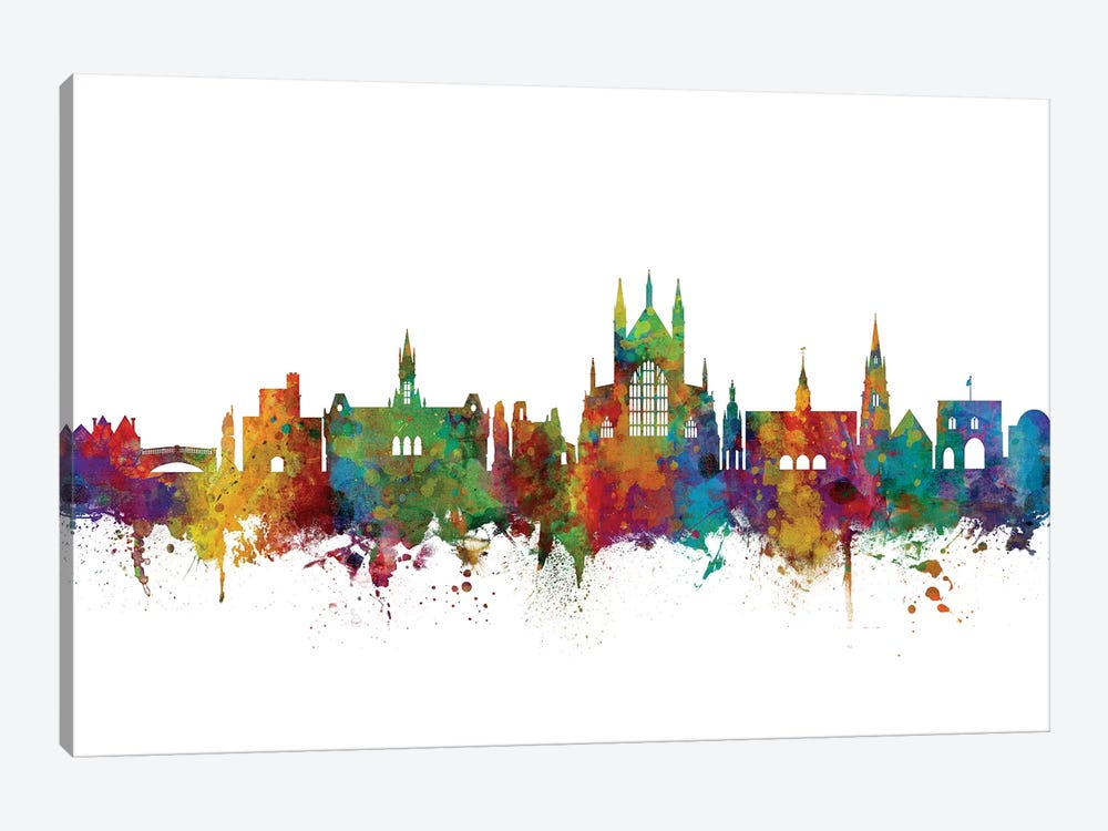 Winchester, England Skyline by Michael Tompsett 1-piece Canvas Print