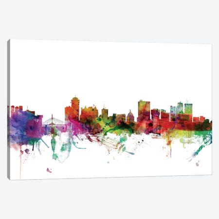 Winnipeg, Canada Skyline Canvas Print #MTO1195} by Michael Tompsett Canvas Print