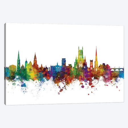 Worcester, England Skyline Canvas Print #MTO1197} by Michael Tompsett Canvas Print