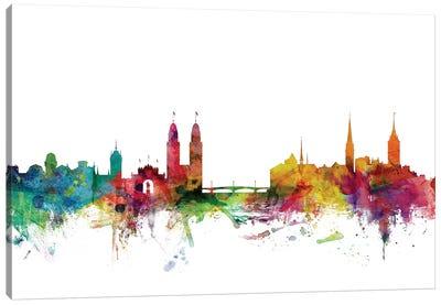 Zurich, Switzerland Skyline Canvas Art Print