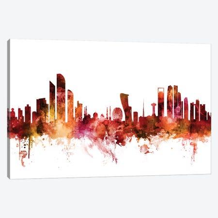 Abu Dhabi, UAE Skyline Canvas Print #MTO1202} by Michael Tompsett Canvas Art