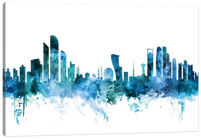 Abu Dhabi, UAE Skyline Canvas Art Print
