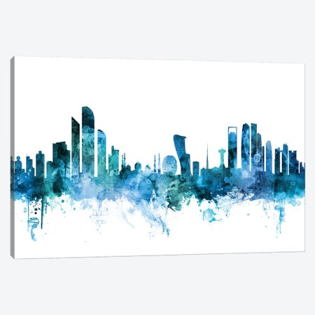 Abu Dhabi, UAE Skyline Canvas Print #MTO1203} by Michael Tompsett Canvas Wall Art