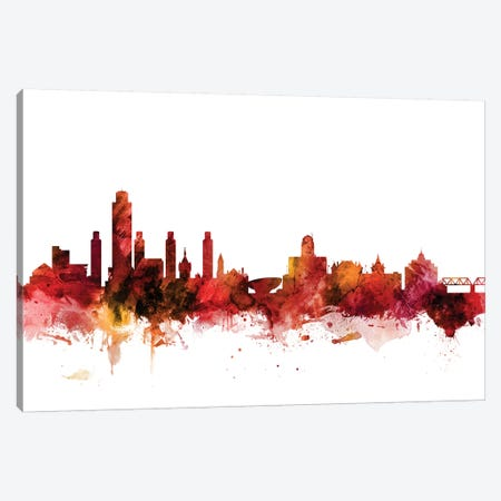 Albany, New York Skyline Canvas Print #MTO1206} by Michael Tompsett Canvas Print