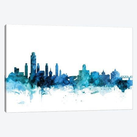 Albany, New York Skyline Canvas Print #MTO1207} by Michael Tompsett Art Print