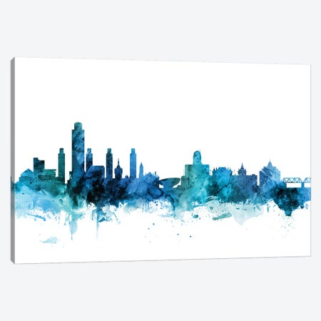 Albany, New York Skyline Canvas Print #MTO1207} by Michael Tompsett Art Print