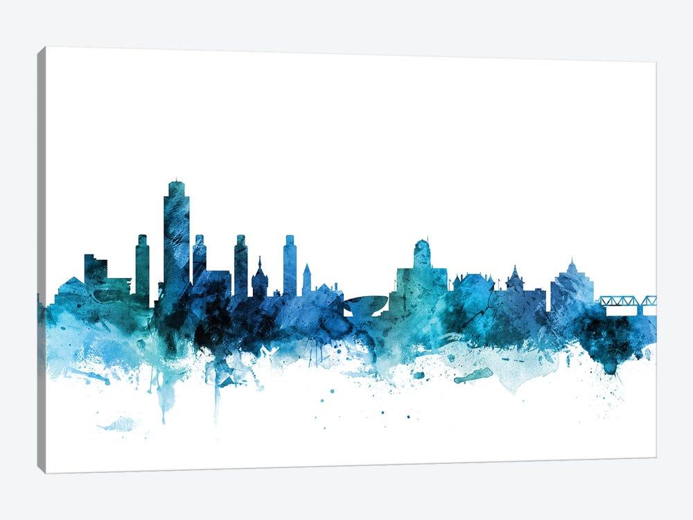 Albany, New York Skyline by Michael Tompsett 1-piece Canvas Print