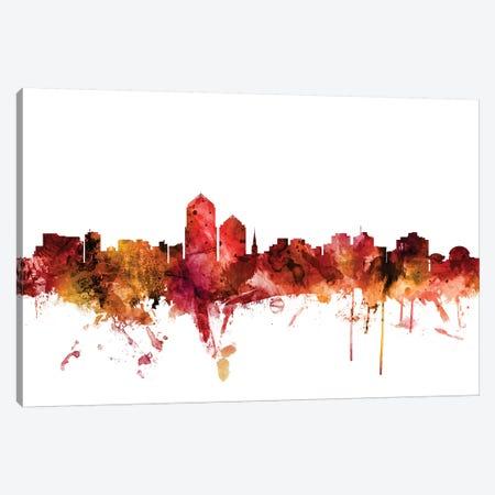 Albuquerque, New Mexico Skyline Canvas Print #MTO1208} by Michael Tompsett Canvas Art