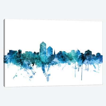 Albuquerque, New Mexico Skyline Canvas Print #MTO1209} by Michael Tompsett Canvas Art
