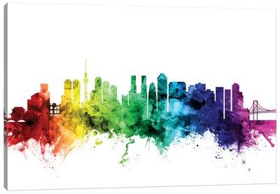 Rainbow Skyline Series: Tokyo, Japan Canvas Print #MTO120