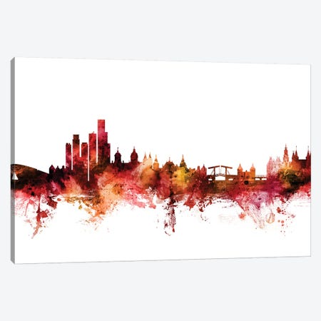 Amsterdam, The Netherlands Skyline Canvas Print #MTO1210} by Michael Tompsett Canvas Art Print