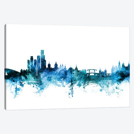 Amsterdam, The Netherlands Skyline Canvas Print #MTO1211} by Michael Tompsett Canvas Art Print