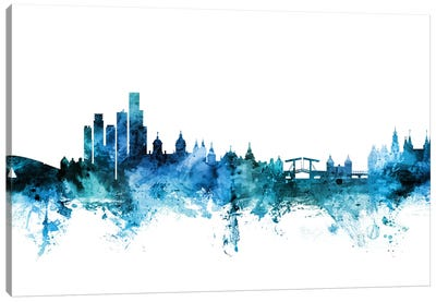 Amsterdam, The Netherlands Skyline Canvas Art Print