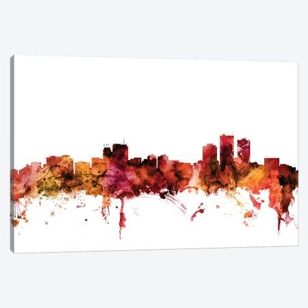Anchorage, Alaska Skyline Canvas Print #MTO1212} by Michael Tompsett Art Print