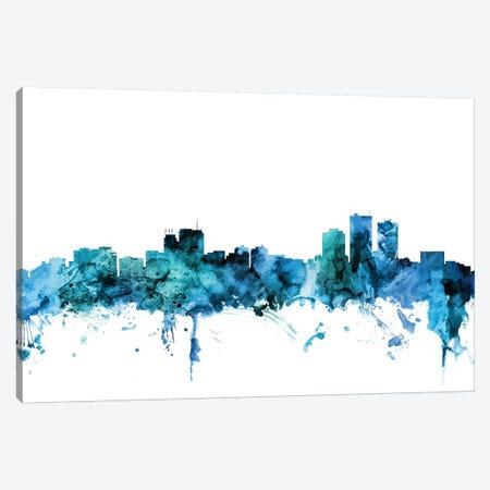 Anchorage, Alaska Skyline Canvas Print #MTO1213} by Michael Tompsett Canvas Print