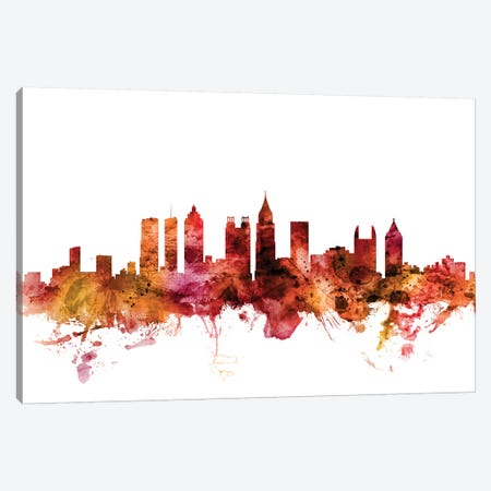 Atlanta, Georgia Skyline Canvas Print #MTO1216} by Michael Tompsett Canvas Artwork